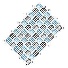 Corner to corner c2c crochet chart pattern created using the corner to corner crochet chart pattern created using the hookincrochet crochet symbols font software ccuart Choice Image