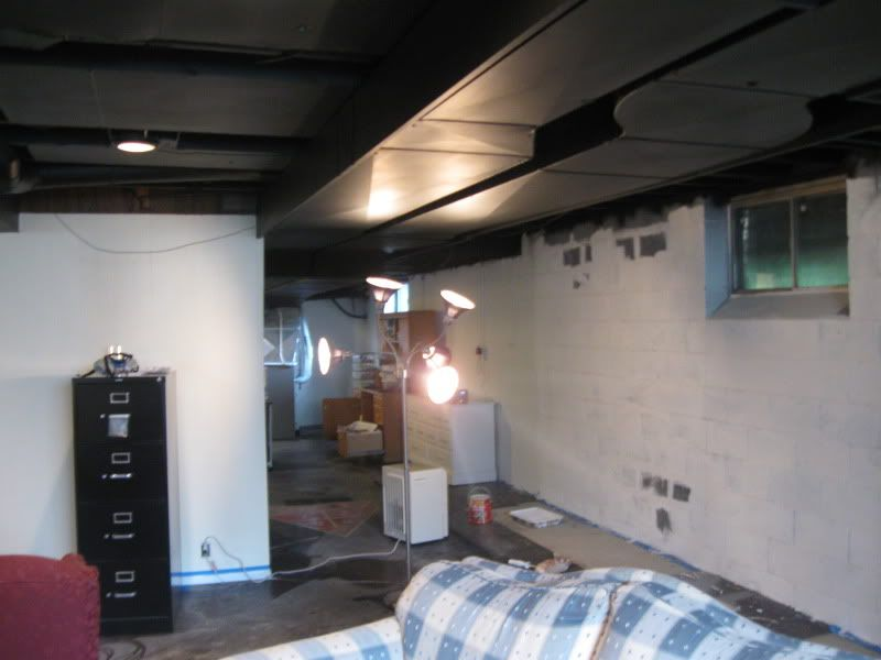 Dry Fall Paint Basement Ceiling Ideas Basement