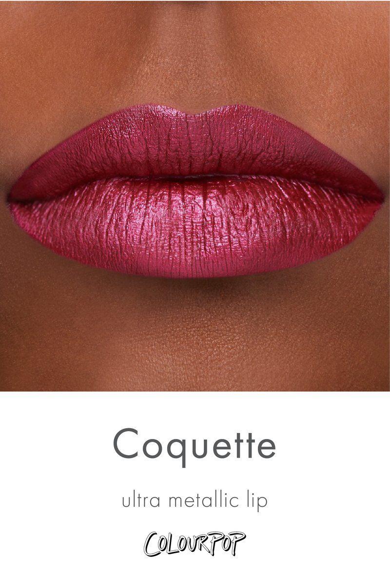 Coquette Rich Merlot Red Purple Ultra Metallic Lipstick Swatch On Deep Skin Lipstick Swatches Metallic Lipstick Lipstick For Fair Skin