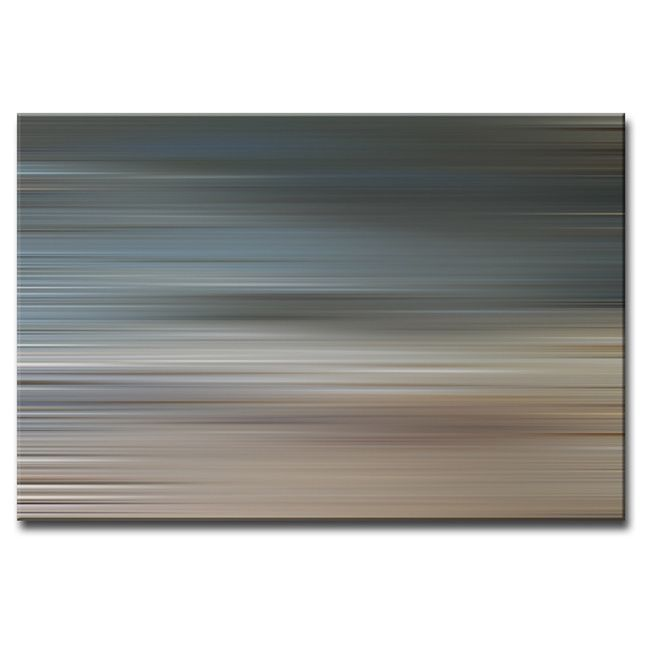 A mod, cosmic horizon or interstellar landscape is characteristic of Ready2HangArts latest collection 'Blur Stripes'. These celestial works compose an austere series featuring a color palette compatible with most every home decor style and taste.