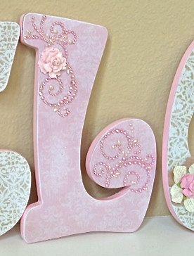 Nursery letters baby name art custom nursery room decor for Where to buy wooden letters for nursery