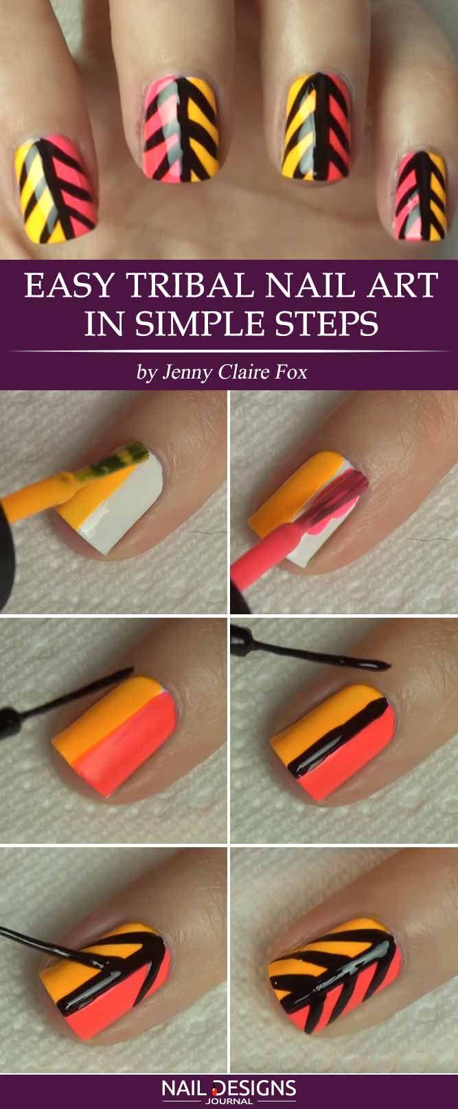 17 Super Easy Nail Designs Diy Tutorials Pinterest Nail Salons
