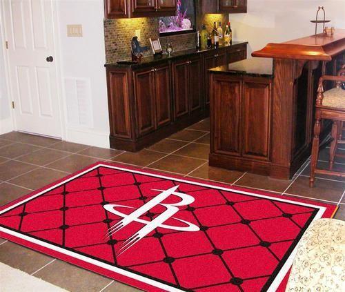 Houston Rockets 5 x 8 Area Rug Carpet
