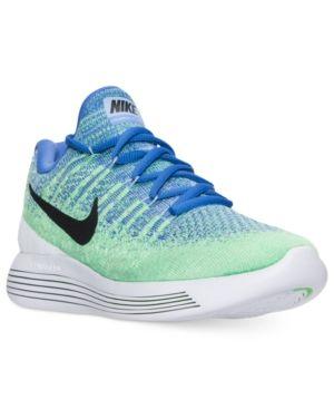 f2c4fc664f517 Nike Women s LunarEpic Low Flyknit 2 Running Sneakers from Finish Line -  Blue 8