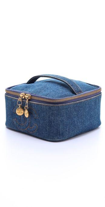 4abde6e7aef731 WGACA Vintage Vintage Chanel Denim Cosmetic Case | taštičky, tašky ...