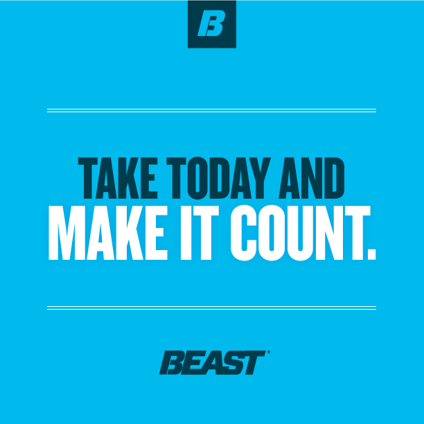 """Take today and make it count."" #Goals #Dedication #Fitness #Workout"