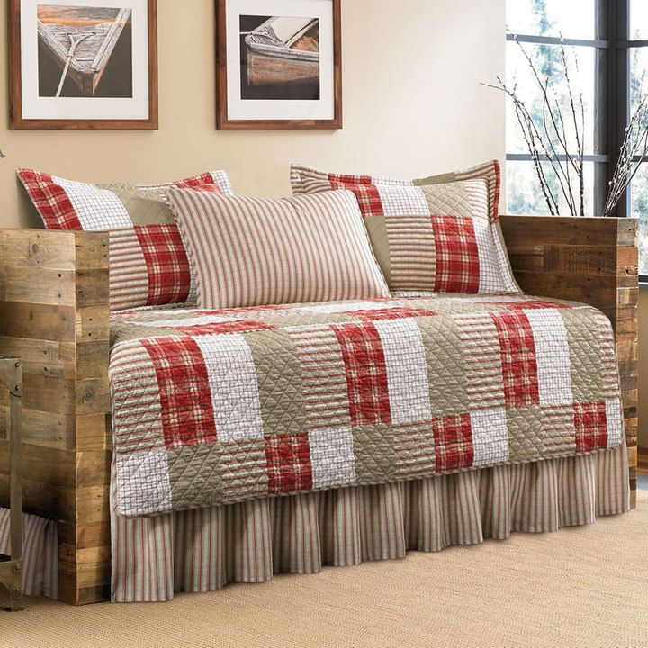 Eddie Bauer Camano Island Plaid 5-piece Daybed Set quilting - Daybed Images
