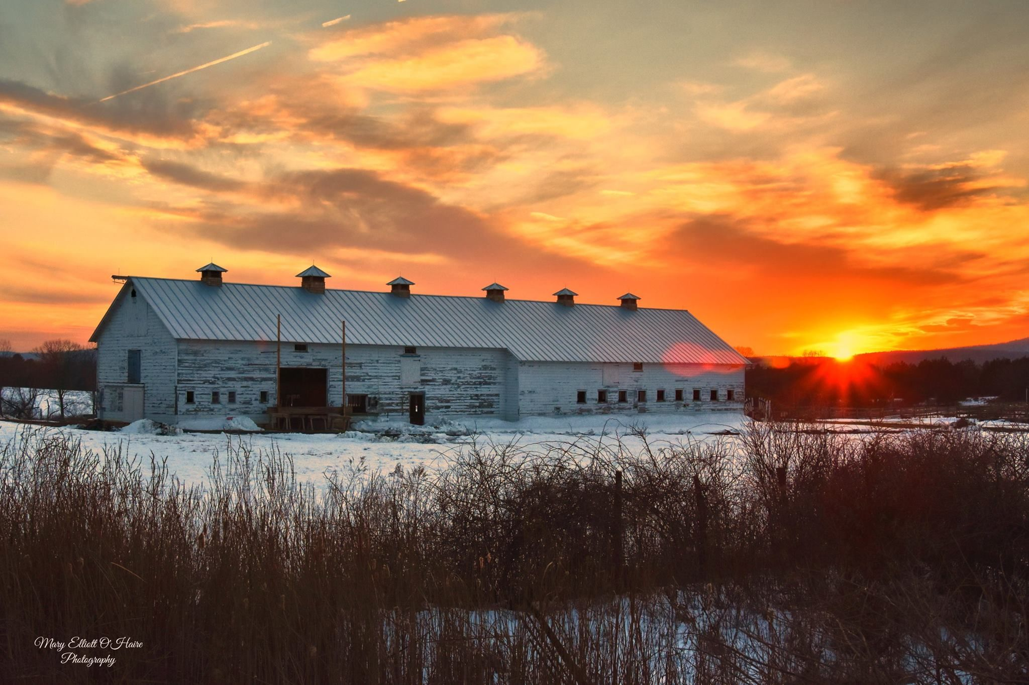 Pic Of The Day Beautiful Farm Scene By Mary Elliott O Haire