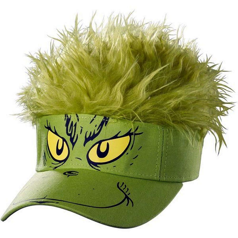 6b8a1f55d65 Dr. Seuss Grinch Visor - Hats - Fancy Dress Costume Accessories ...