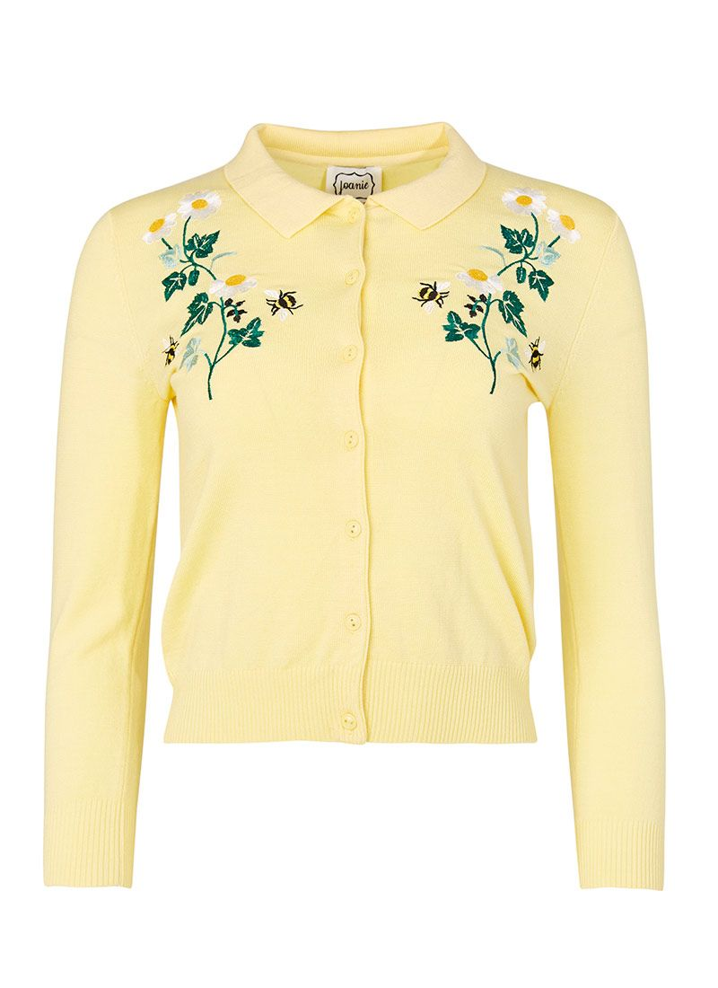 This 50s style floral embroidery cardigan is perfect for layering ...