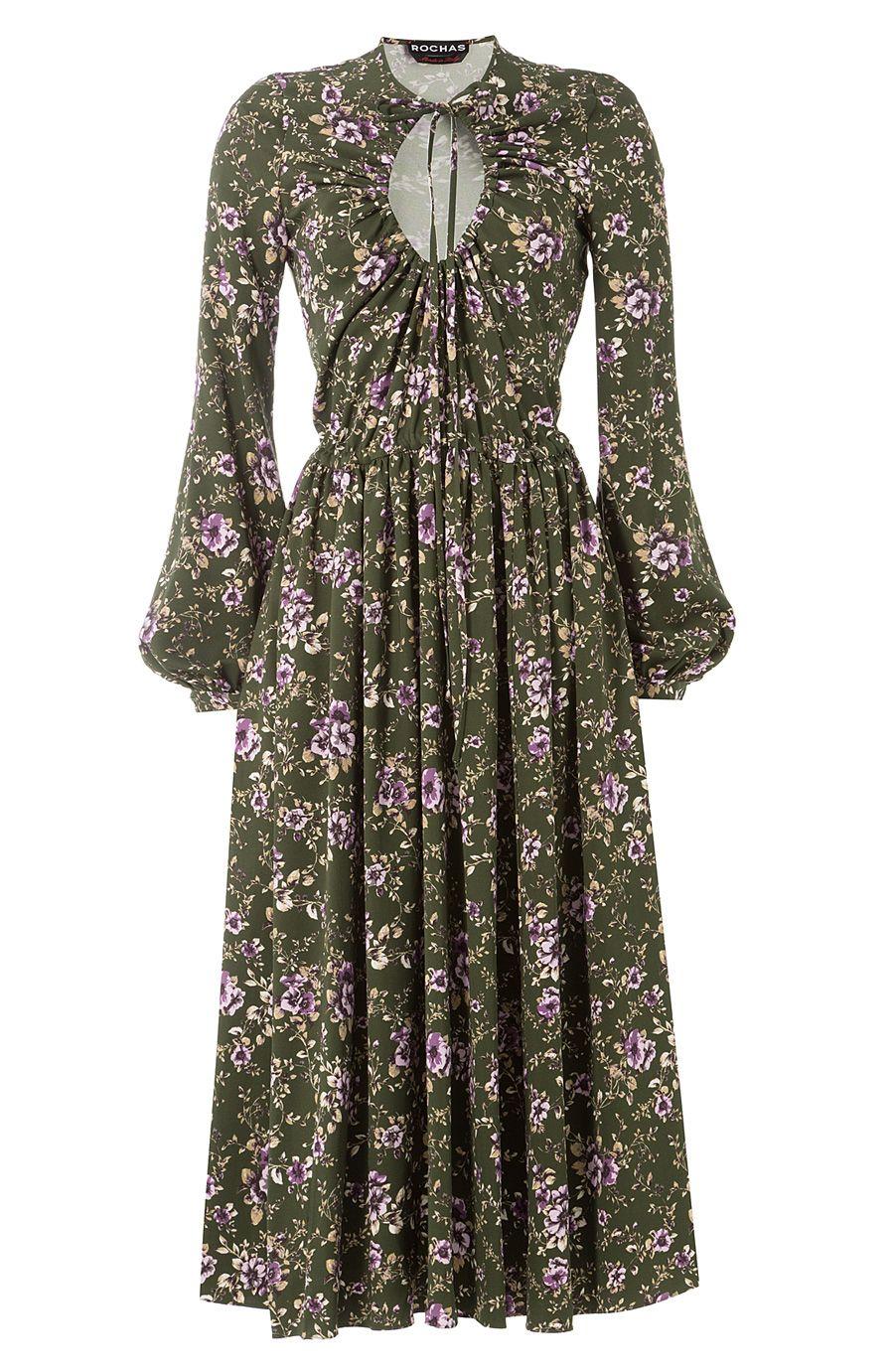 Rochas printed midi dress