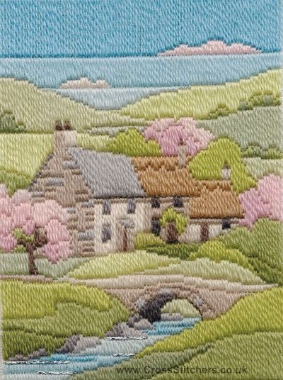 how to start a longstitch tapestry