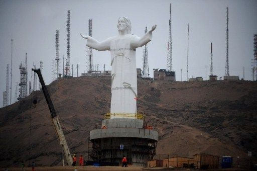 """I have not seen it in person yet, but the controversial Christo del Pacifico or """"El Christo del Vago Gordo"""", as many Peuvians call it, was added to the Morro Solar where Pope John Paul's cross is.... Not sure this is necessarily a good thing but it will be interesting to see, and hear reactions"""