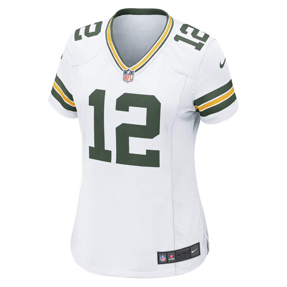 9bc68d19919 Nike NFL Green Bay Packers (Aaron Rodgers) Women's Football Away Game Jersey  Size Small (White) - Clearance Sale