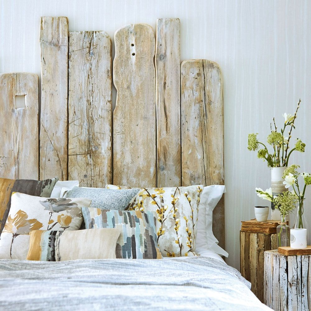 Coastal Inspired Driftwood Headboard For A Rustic Laid Back Vibe
