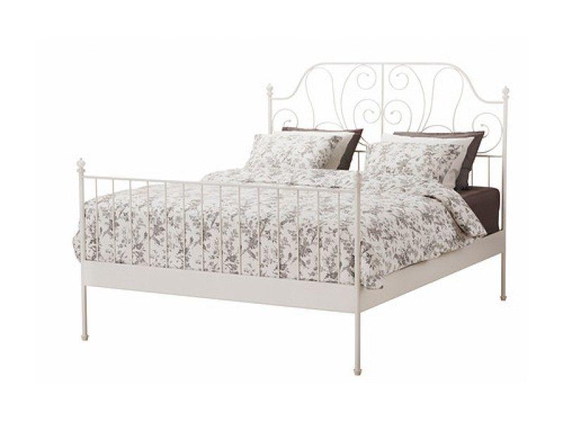 Muua Valge Metallvoodi Leirvik 140x200 Voodid Magamistoad Muua Ikeast Ostetud Avamata Pakendis Valge Metallvoodi Ikea Bed White Bed Frame White Metal Bed