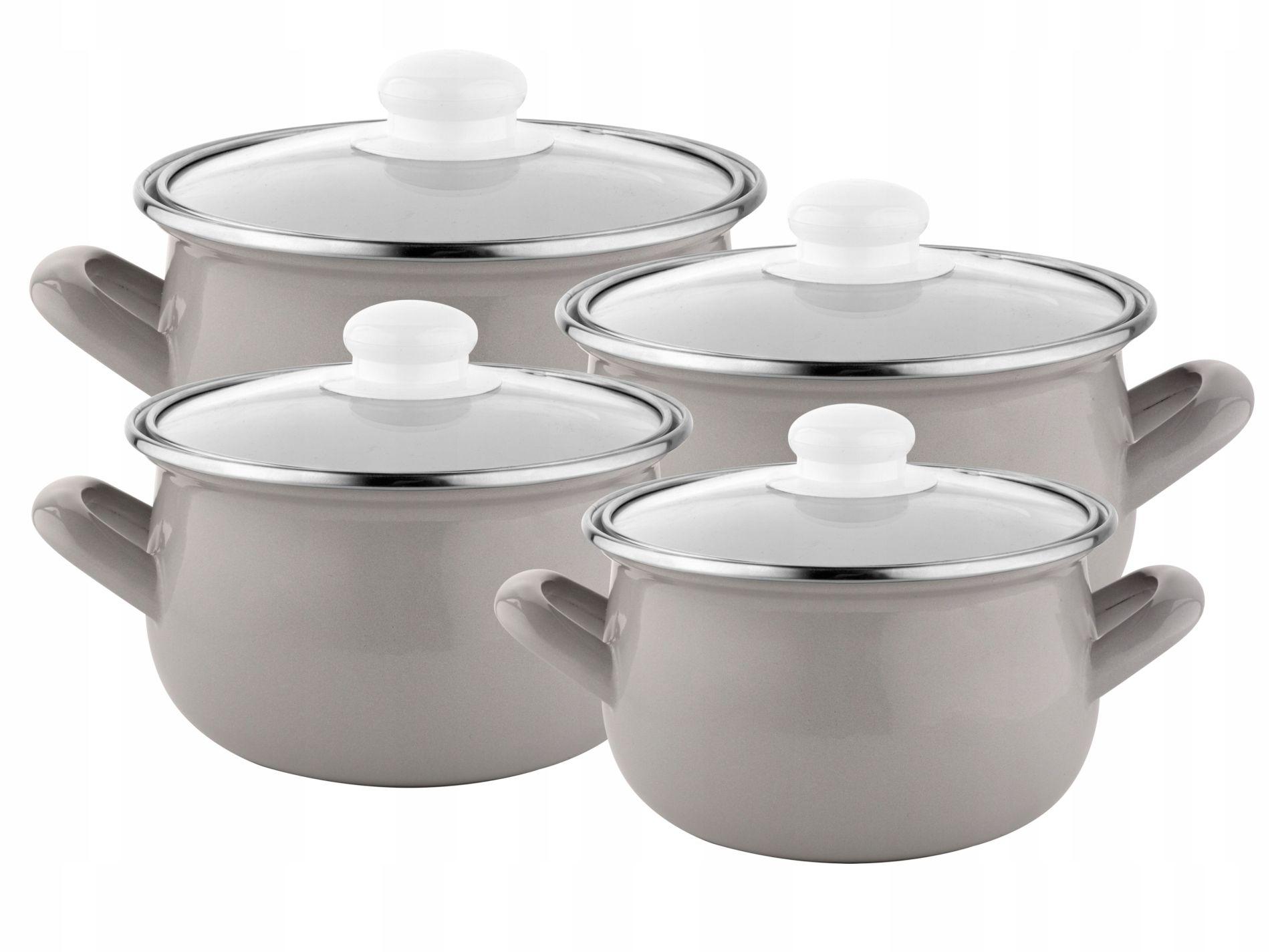 Komplet Garnkow Emaliowanych Capri 16 18 20 22cm Sugar Bowl Set Bowl Set Tea Pots