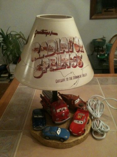 Wonderful RARE And Disney Pixar Cars Radiator Springs Lamp With Shade | EBay