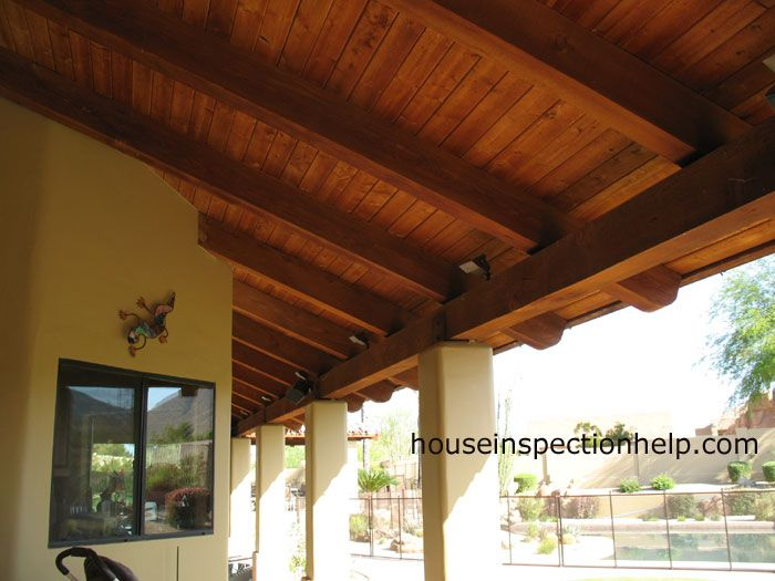 Exposed Wood Patio Cover