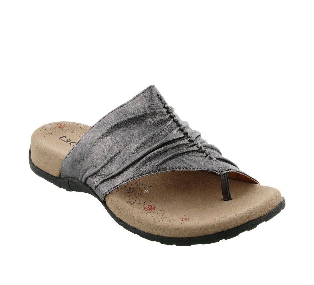 ecc68517bf7 Taos Footwear Women s Gift 2 Pewter Sandal 8 B (M) US