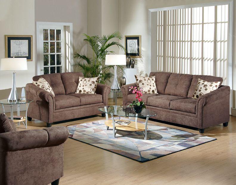 980 Chocolate Sofa and Love Seat 980