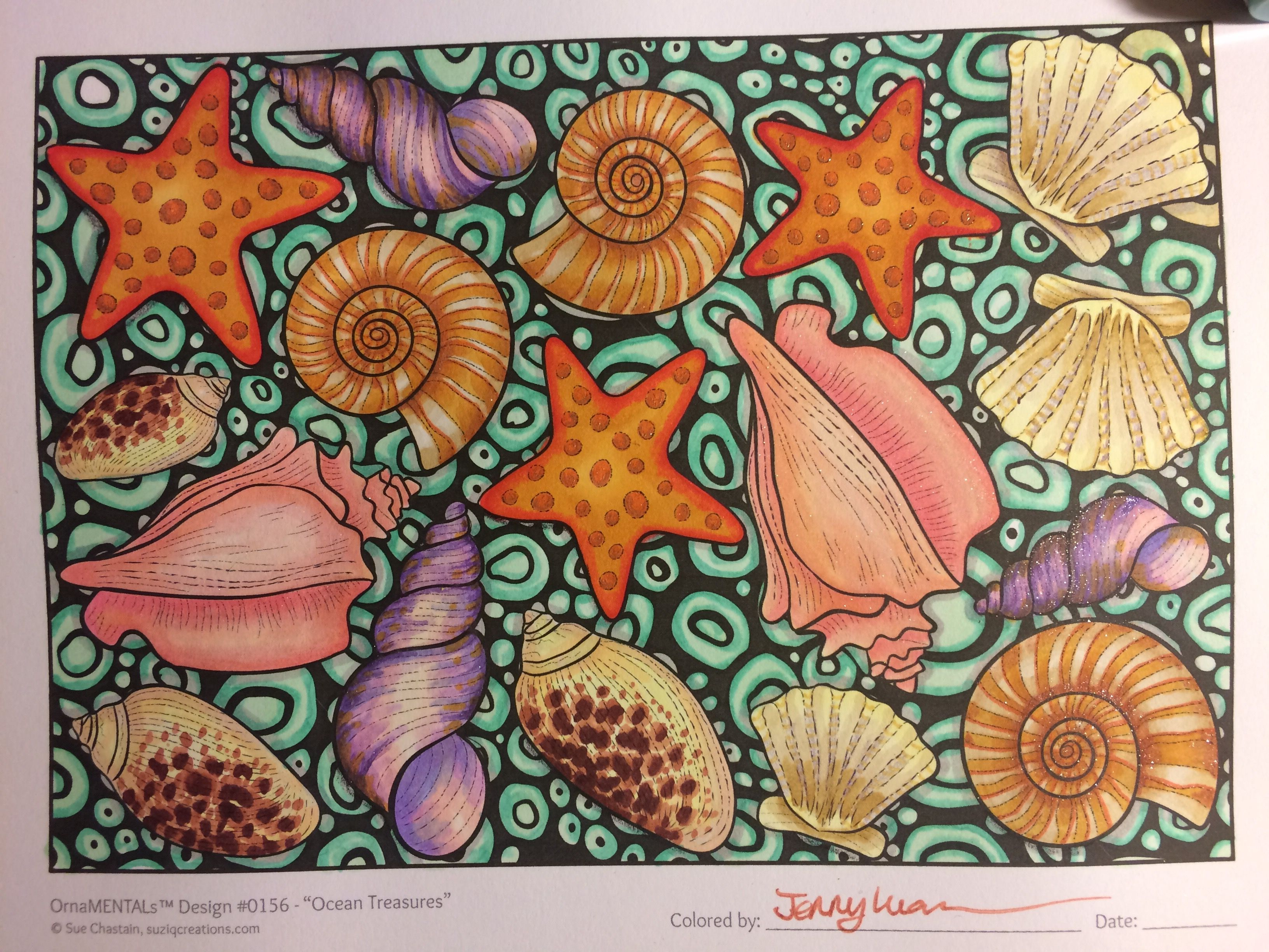 From OrnaMENTALs Lights Out Colored By Jenny Luan This Printable Coloring Book Includes Both