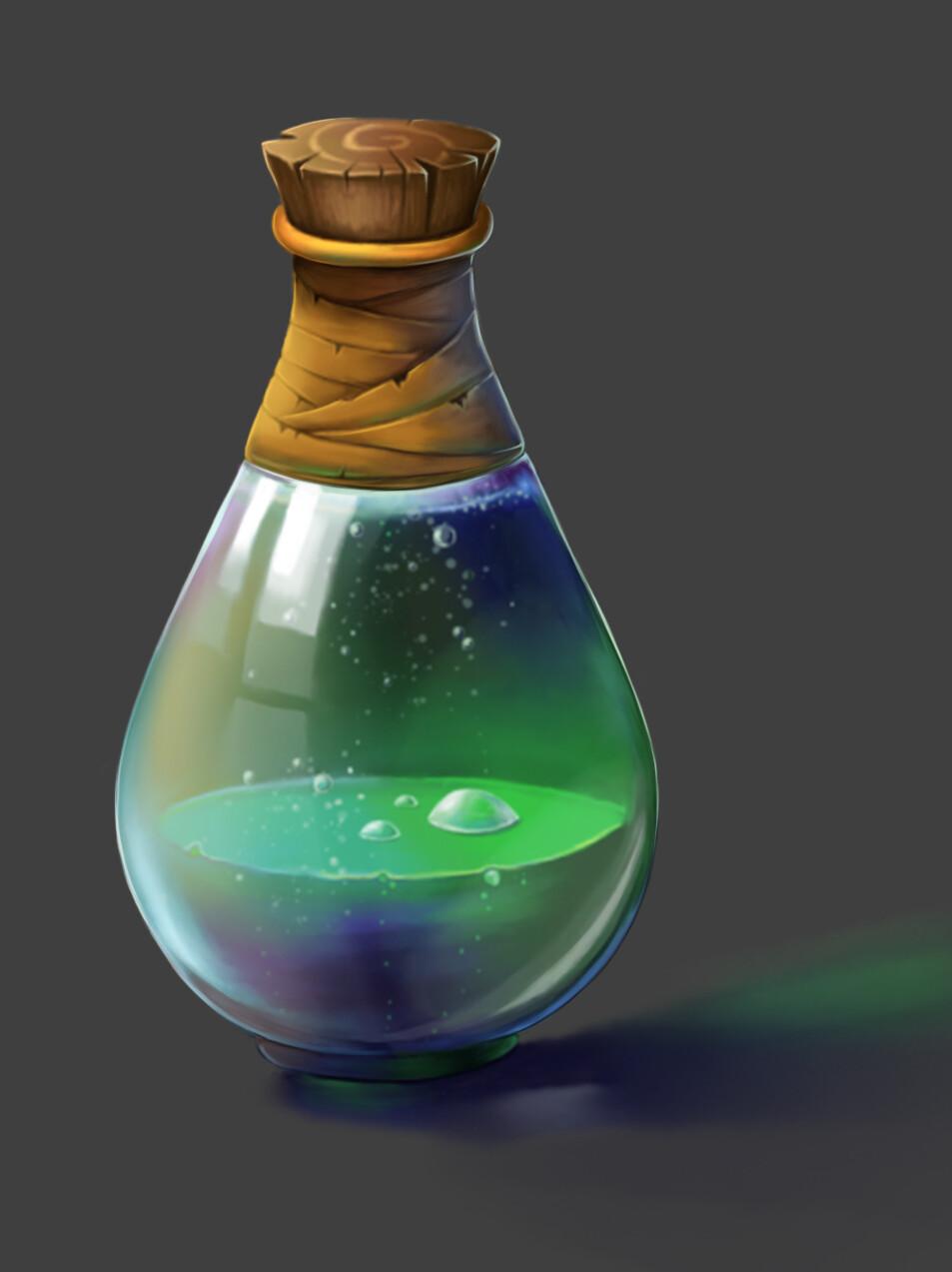 Artstation Magic Potion Natasa Stevanic Magic Bottles Potions Magic Book