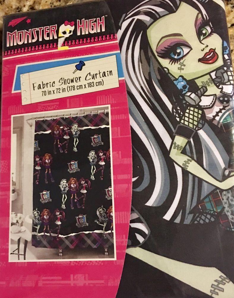 Monster High Bathroom Decor Shower Curtain Bath NEW | EBay