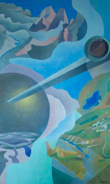 """Benedetta (Benedetta Cappa Marinetti) """"Synthesis of Aerial Communications"""" (Sintesi delle comunicazioni aeree), (1933–34)."""