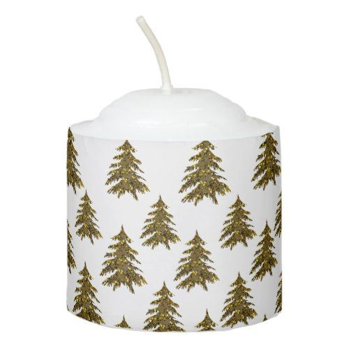 Sparkly gold Christmas tree Votive Candle Popular Christmas Home