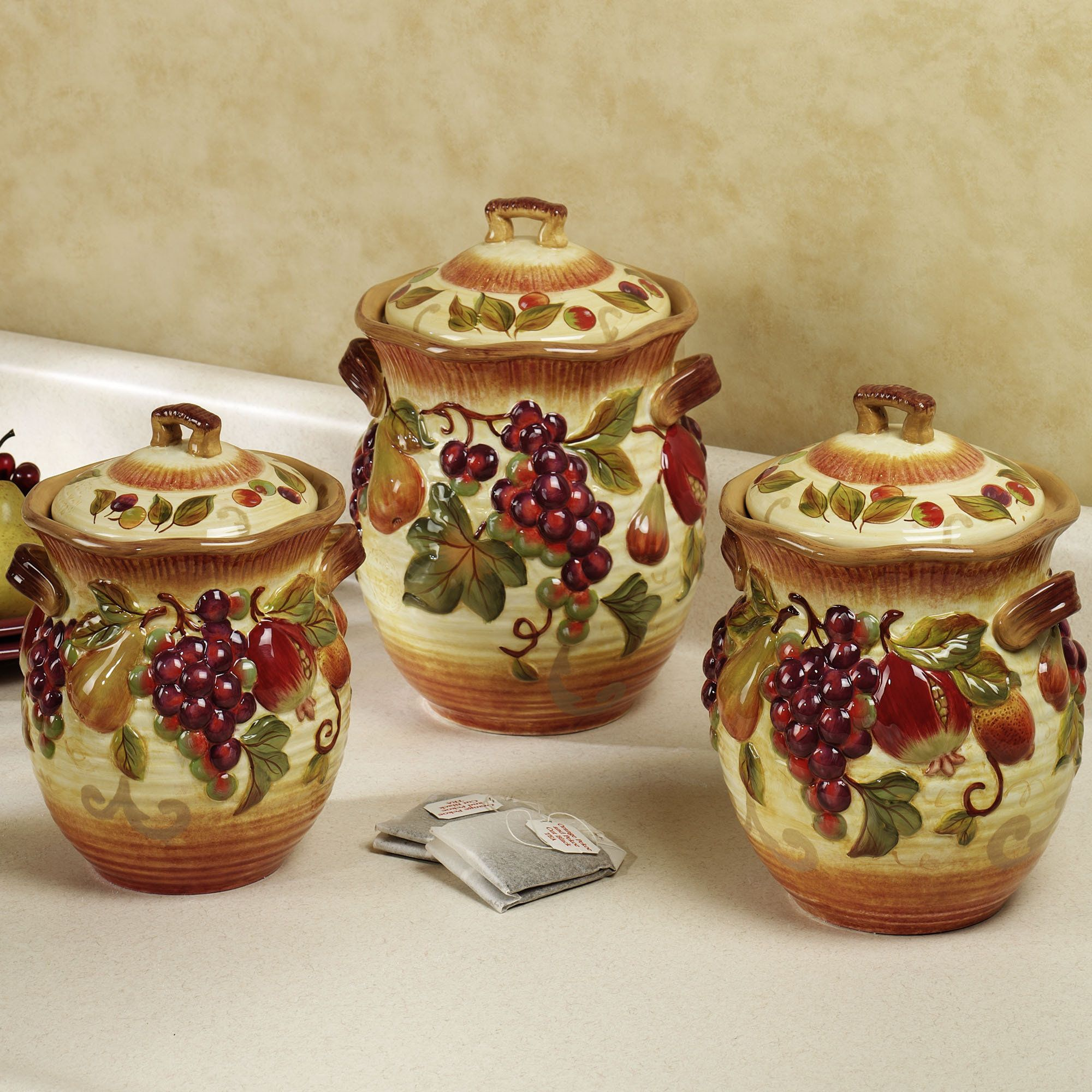 tuscan style dish set  Kitchen Canisters  Iron Furniture