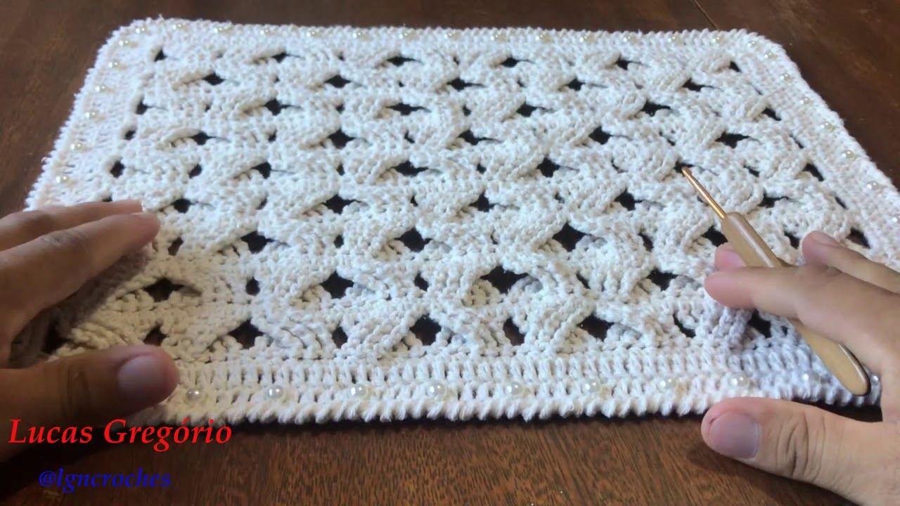 Jogo Americano Em Croche Com Perolas Lucas Gregorio Croches Youtube Jogo Americano De Croche Supla De Croche Quadrado Sousplat De Croche Quadrado