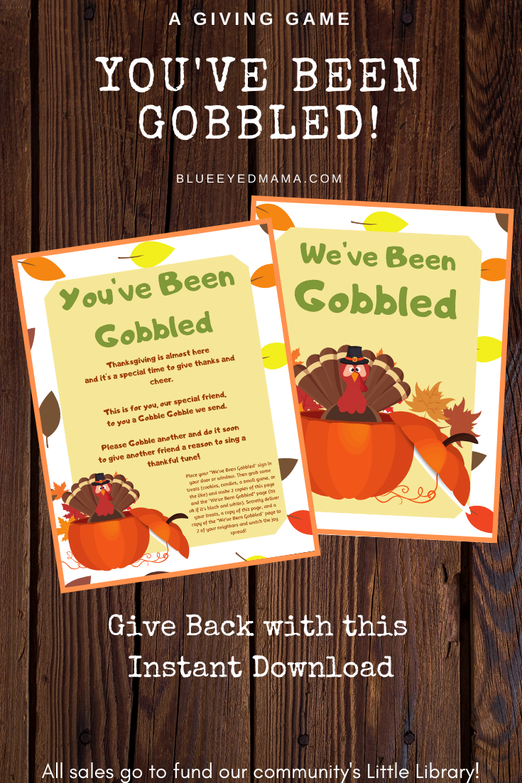 You Ve Been Gobbled Thanksgiving Games Thanksgiving Etsy In 2020 Thanksgiving Games Thanksgiving Activities Thanksgiving Fun