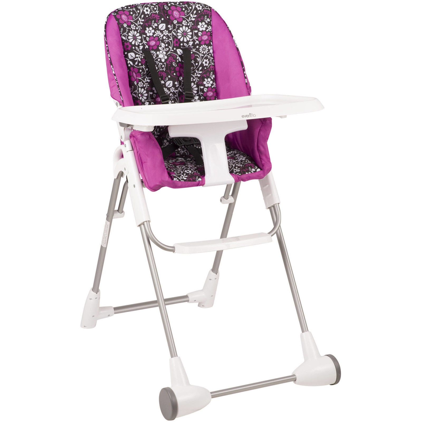New Infant Toddler Portable Symmetry Flat Fold Feeding High Chair Daphne Folding High Chair High Chair Big Comfy Chair