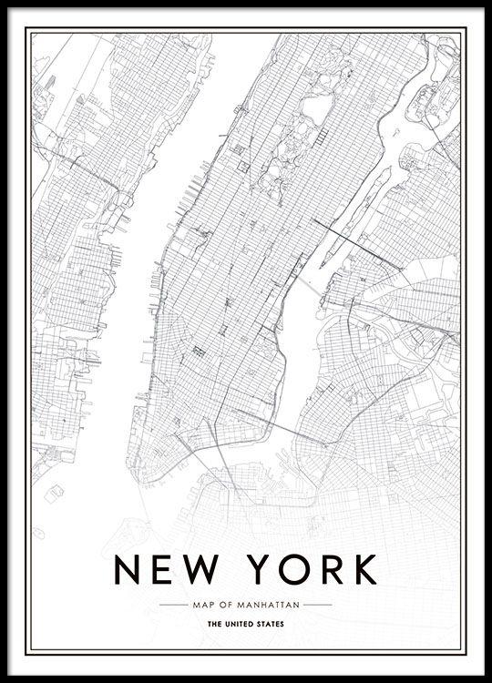 Print de Nueva York. | Poster Frames | Pinterest | Room, Room decor ...