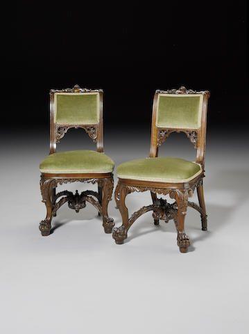 Набор из шести викторианской ирландский резной из красного дерева, стулья для столовой £4,000 - 6,000 380,000 руб. - 570,000