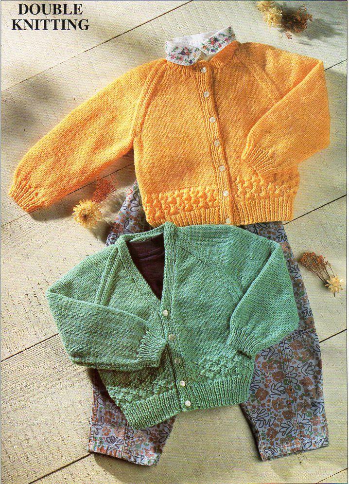 baby knitting pattern pdf baby cardigan baby jacket v neck round ...