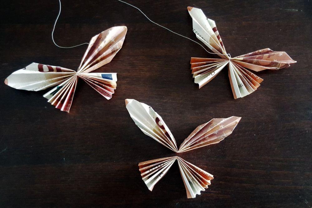 Schmetterlinge als kreatives Geldgeschenk | Geld