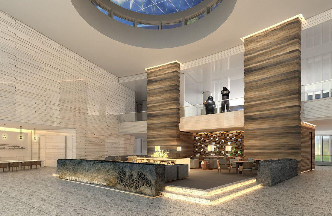 Inspiration hotel lobby design by douglasdao on for Hotel decor inspiration