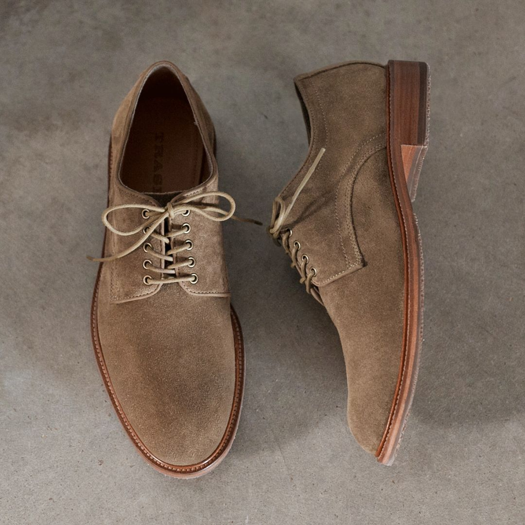 Summer In Suede Unlined Charles F Stead English Suede That S Specially Tanned With A Smooth Full Grain R Dress Shoes Men Mens Suede Oxford Shoes Dress Shoes
