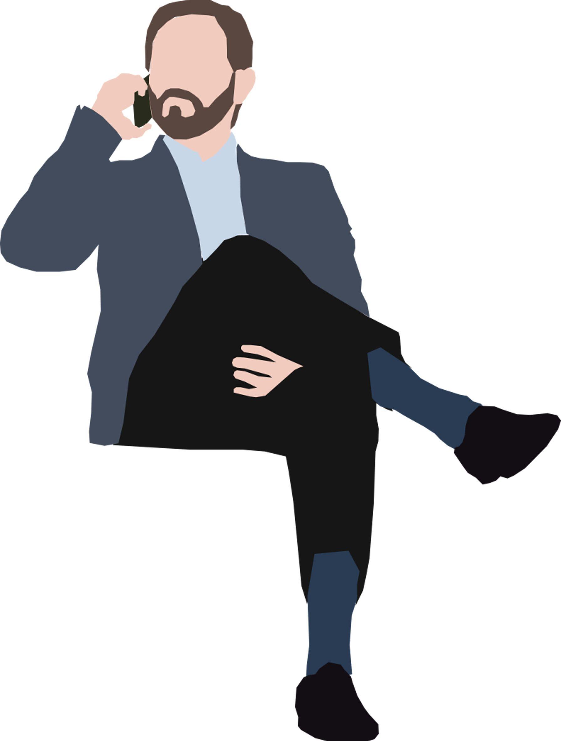 Man Sitting Colagem De Arquitetura Ilustracoes Mae E Filha Desenho
