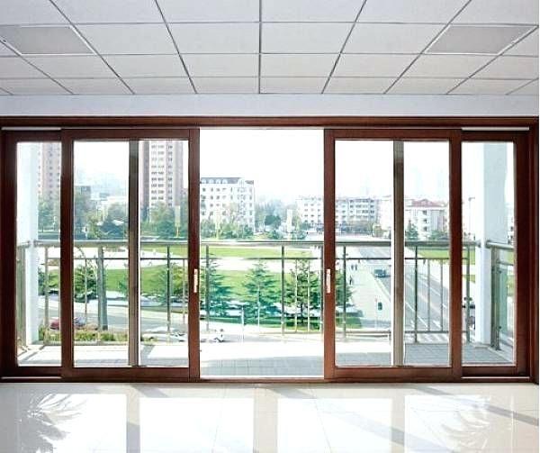 8 Ft Sliding Glass Door Sliding Doors Modern Double Sliding Patio