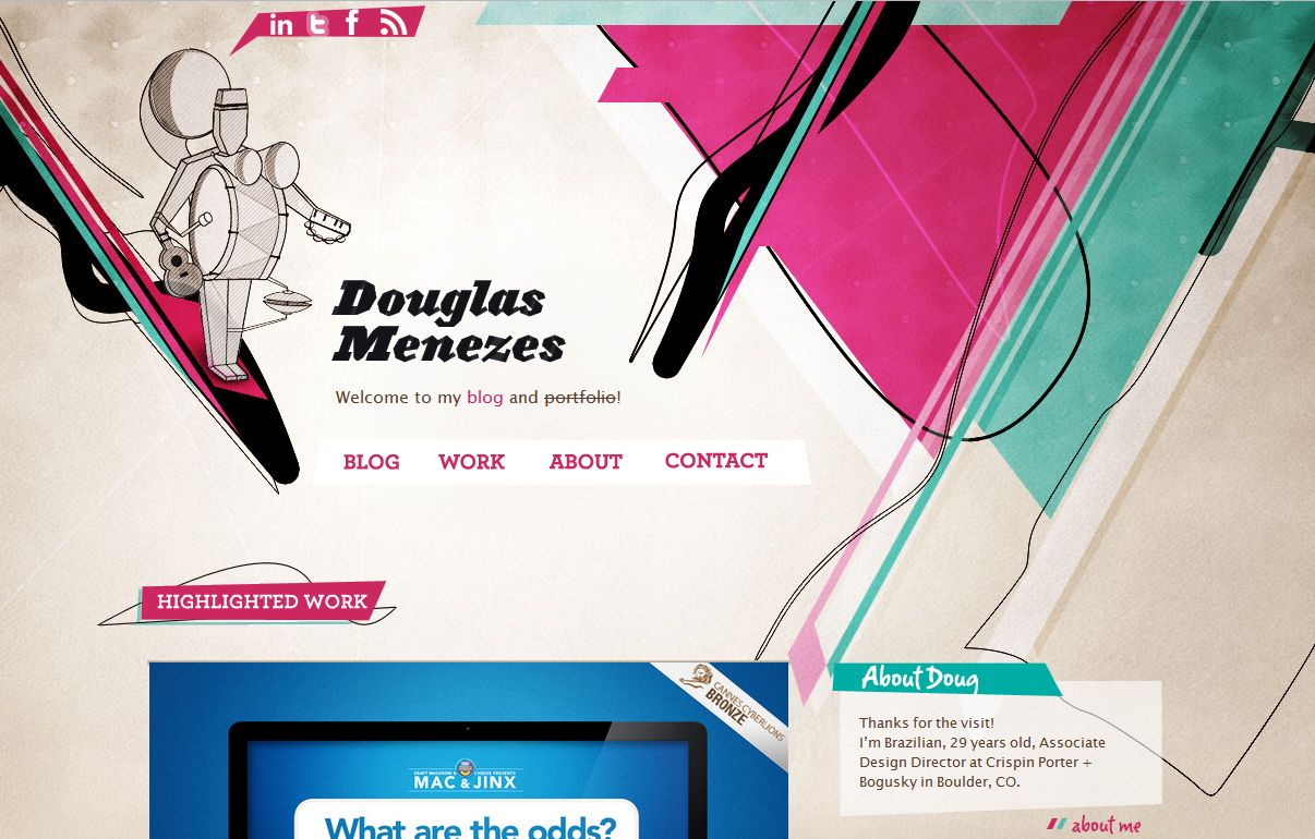 26 Fantastic Examples Of Creative Portfolio Website Designs