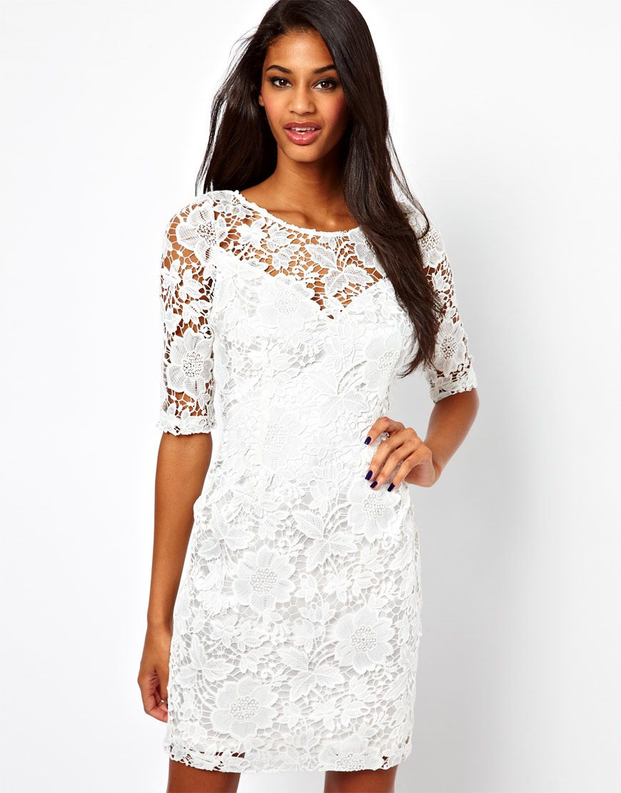 Lace Dress with 3/4 Sleeve | Summer Summer | Pinterest | Lace ...