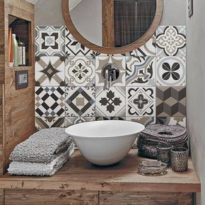 """Photo of PS00089 """"Braga"""" Pvc tiles for bathroom tiles and kitchen Ceramic decorations various sizes"""