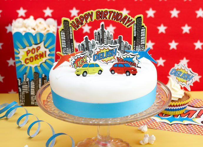 Awe Inspiring Pop Art Superhero Party Ideas Art Party Cakes Happy Birthday Funny Birthday Cards Online Necthendildamsfinfo
