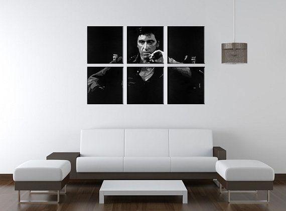 Beautiful hand painted Scarfaces Al Pacino Tony Montana 6 panel ...