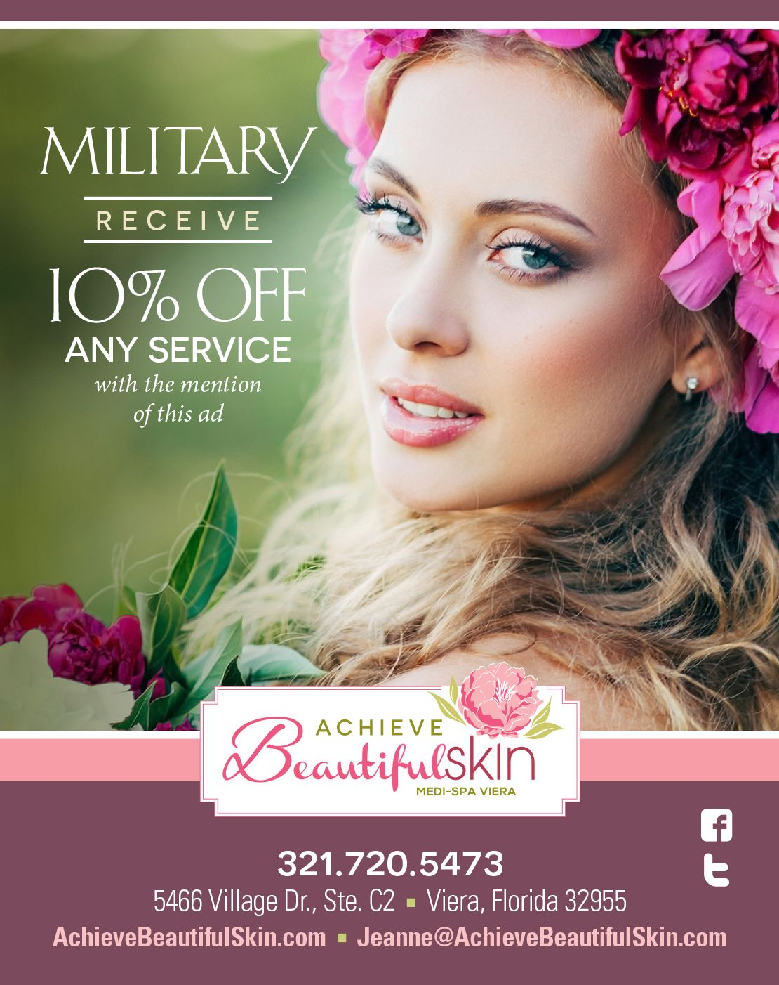 Achieve Beautiful Skin Medi-Spa Viera | Military Discount Network