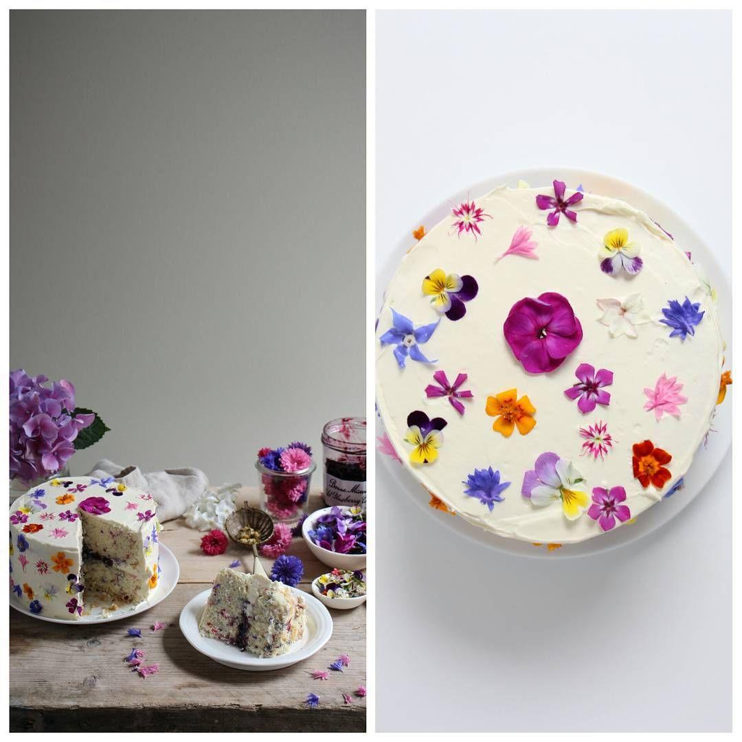 Flower funfetti cake