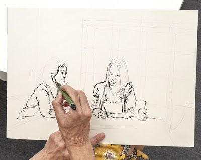 Sketching People An Urban Sketchers Manual For Drawing Figures And Faces By Lynne Chapman Illustrators Life Me Photographed In Action A Trip To
